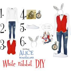 A fashion look from October 2013 featuring Topshop tops, Frame jeans and Keds sneakers. Browse and shop related looks. White Rabbit Alice In Wonderland, Alice In Wonderland Costume, Halloween Kostüm, Diy Halloween Costumes, White Rabbit Costumes, Alice Costume, Disney Outfits, Disney Costumes For Women, Clothes For Women