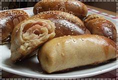 Pães recheados de queijo e presunto - Larissa Todo Dia