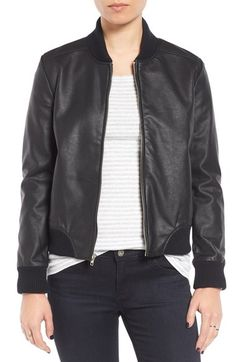 d238f629adf BB Dakota Alastair Faux Leather Bomber Jacket available at