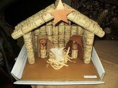 Resultado de imagem para presépios com materiais reciclados Christmas Nativity Scene, Christmas Wine, Kids Christmas, Christmas Crafts, Christmas Decorations, Christmas Ornaments, Wine Craft, Wine Cork Crafts, Bottle Crafts
