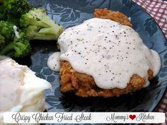 Mommy's Kitchen - Recipes From my Texas Kitchen!: Chicken Fried Steak W/ Cream Gravy & Thank You Mr. Walmart Man