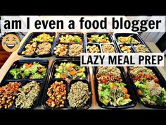 Cheap Lazy Vegan - Under a Hour Meal Prep Easy High Protein Meals, High Protein Vegan Recipes, Easy Healthy Recipes, Best Meal Prep, Vegan Meal Prep, Cheap Lazy Vegan, One Pot Vegetarian, Big Meals, Food Processor Recipes