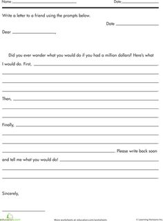 Letter Writing for Kids Friendly letter Worksheets and Language