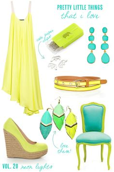 citron + turquoise (from The Sweetest Occasion)