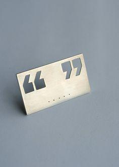 Deafening Silence Brooch by Marleen van Wyk #Buy on Etsy