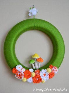 Green Yarn Wreath