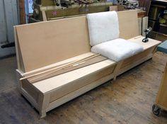 A custom built in bench