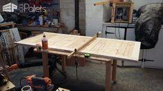 Pallet Door Set Surrounding Matching Planter Box Pallet Planters & Compost Bins Pallet Walls & Pallet Doors