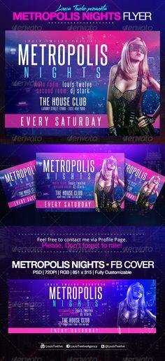 Metropolis Nights | Horizontal Flyer + FB Cover