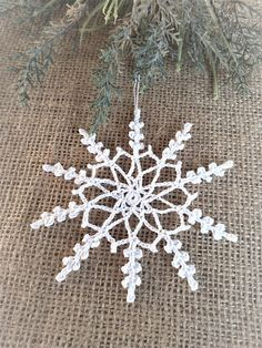 Crochet snowflakes Crochet lace snowflake Crochet tree decoration Crochet ornament Home decoration Christmas gift New Year gifts Are you ready to get into the New Year spirit? This unusual crocheted snowflakes are perfect for your Christmas tree! Crochet Christmas ornaments are some