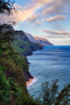 """ponderation: """"Napali Coastline by Anthony Michael Bonafedi """""""