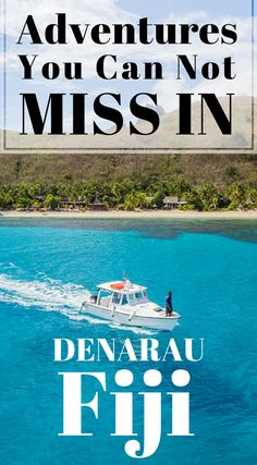 Adventures you can not miss in Denarau Fiji. When it comes to Fiji, there is more to do than just beaches. Don't be scared to take that day trip because I can tell you it will be amazing and you will not be disappointed. We spent our days snorkeling, kayaking, biking, exploring waterfalls, remote islands, river rafting and yes we spent a day or two by the pool with a drink in our hands. Click to read 11 Epic Day Trips from Denarau, Fiji #Fiji #AdventureTravel #Denarau