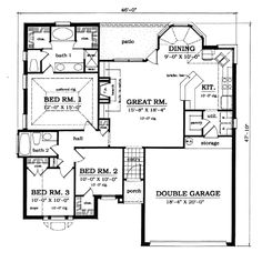 COOL house plans offers a unique variety of professionally designed home plans with floor plans by accredited home designers. Styles include country house plans, colonial, Victorian, European, and ranch. Blueprints for small to luxury home styles. House Plans 3 Bedroom, Ranch House Plans, Cottage House Plans, Craftsman House Plans, Best House Plans, Country House Plans, Modern House Plans, House Floor Plans, Cottage Living