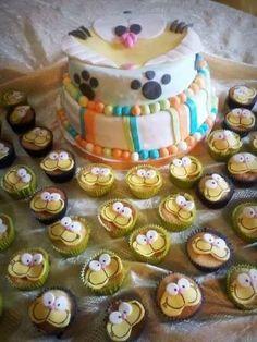 Torta y cupcakes de gaturro