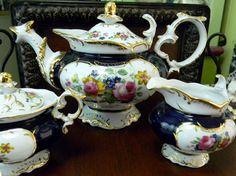 Stunning Teapot Tea Pot Creamer and Ornate Matching Sugar Set Pink Roses 9706 on Etsy, $176.26 AUD
