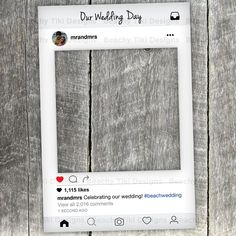 Instagram New Look Frame Cut Out with Instagram Prop by BeachyTiki