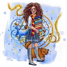 hermione granger by susanne draws