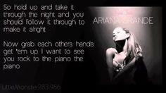 Ariana Grande - Piano [Lyrics on screen] - YouTube