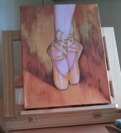 this may look simple but trying to get these feet right are very hard,so good job whoever painted this! Dance Paintings, Canvas Drawings, Art Projects, Painting Inspiration, Painting, Oil Painting Inspiration, Ballerina Painting, Art Inspiration, Canvas Art Painting