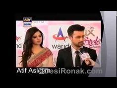 Atif Aslam With his beutiful Wife Sara at 'Red Carpet' - YouTube
