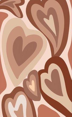 Hippie Wallpaper, Trippy Wallpaper, Brown Wallpaper, Heart Wallpaper, Iphone Background Wallpaper, Iphone Wallpaper Tumblr Aesthetic, Aesthetic Pastel Wallpaper, Aesthetic Wallpapers, Photo Wall Collage