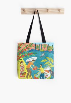 Mediterranean island life tote bag, available from http://www.redbubble.com/people/hanifehokeeffe/works/22624416-mediterranean-island-life?asc=u&p=tote-bag&rel=carousel #hanifeokeeffe #totebag