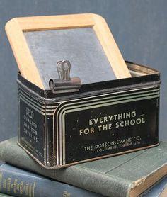 what a cool black tin!