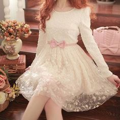 Imagem de dress, pink, and white
