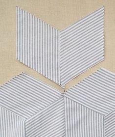 Quilting 101, Quilting Tutorials, Tumbling Blocks Quilt, Quilt Blocks, Quilt Block Patterns, Pattern Blocks, Man Quilt, Baby Boy Quilts, Paper Piecing