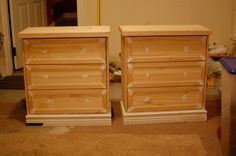 Adding Character to the Ikea RAST dressers, using them as night stands. I wonder if these would work for us?