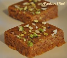 Indian Recipes South Indian Recipes: Instant Mohanthal with condensed milk Indian Dessert Recipes, Indian Sweets, Indian Snacks, Indian Recipes, Milk Recipes, Sweets Recipes, Cooking Recipes, Diwali Recipes, Ramadan