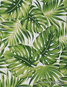Tropical Fabric: Monstera Leaves And Palm Fronds. By Hawaiianfabricnbyond A Shop At Tropical Fabric, Tropical Art, Tropical Leaves, Plant Wallpaper, Wallpaper Backgrounds, Wallpapers, Motif Jungle, Leaf Art, Pattern Wallpaper