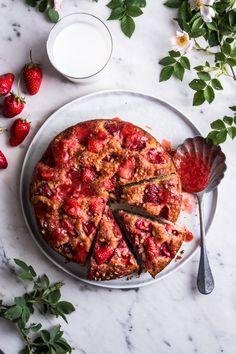 Torta morbida con ricotta e fragole