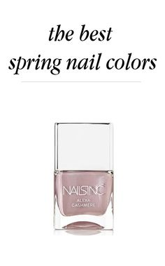 Spring is all about breaking out of your usual winter routine, which means out with the dull and in with the bright and bold. Try Nailsinc in Petticoat Lane. Find 15 more favorite spring nail polish colors on Beauty Bets.
