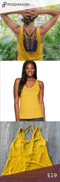 PRANA Tilda Tank in Marigold Super cute.  Gently worn. Prana Tops Tank Tops