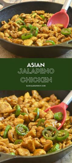 asian recipes Asian Jalapeno Chicken requires simple ingredients and is ready in less than 30 minutes. With moist chicken, sweet and savory flavors, and a kick of spice, its sure to be a family favorite! Turkey Recipes, Dinner Recipes, Moist Chicken, Chicken Flavors, Chicken Meals, Chinese Cooking Wine, Jalapeno Recipes, Recipes With Jalapenos, Bacon Recipes