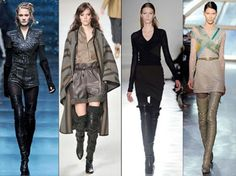 collection of high boots for fashion trends 2012