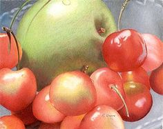 Colored Pencil Artwork of Ruth Green Colored Pencil Artwork, Pencil Painting, Color Pencil Art, Colored Pencils, Painting & Drawing, Colouring Pencils, Watercolor Ideas, Botanical Drawings, Food Illustrations