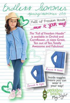 Loving the Full of Freedom hoodie for tweens!