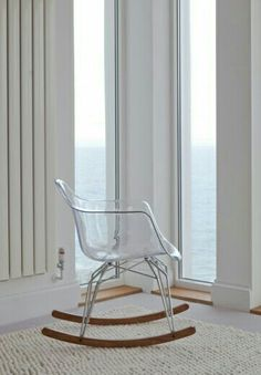 Modern lucite rocking chair*