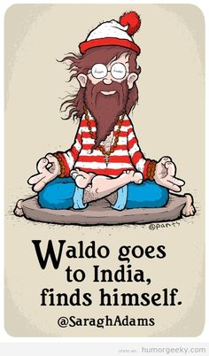 Waldo Goes to India - Finds Himself | Created by Saragh Adams via Humor Geeky