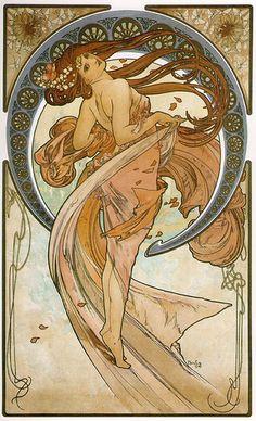 "Alphonse Mucha ""La Danse"" 1898 by Art & Vintage, via Flickr"