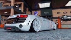 Audi R8 Spyder Slammed White Vossen Rims