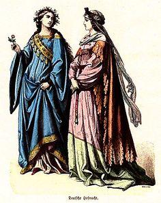 Plate #24b - First Half of the Fifteenth Century. German Court Dress