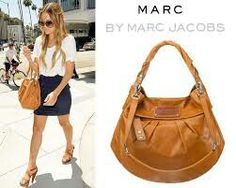 Marc by Marc Jacob in leather brown carry on bag