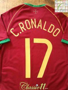 83460d82cd 2006 07 Portugal Home Football Shirt C. Ronaldo  17 (S)