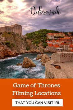 The place with the most Game of Thrones filming locations in the world is Dubrovnik Croatia. Medieval Dubrovnik, with its fortified city walls and towers, is the ideal filming location for a series as addictive and authentically medieval as Game of Thrones. Here, you can visit sites for Kings Landing, the Purple Wedding, the Battle of Blackwater, Joffrey's NameDay Tournament, and Cersei's infamous walk of shame.  #got #GameOfThrones #gotFilmingLocations #dubrovnik #Croatia #Cersei #Tyrion