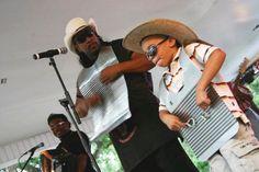 Washboard Players at Swamp Pop festival Louisiana music