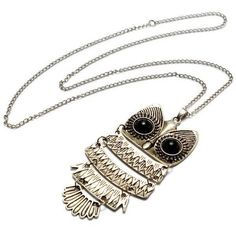 Retro Owl Pendant Sweater Chain Necklace ($2.87) ❤ liked on Polyvore featuring jewelry, necklaces, vintage antique jewelry, owl pendant, antique pendant necklace, antique necklace and vintage jewelry