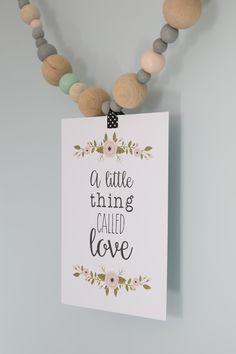 Little Dutch ✿ Posters & cards ✿ #littledutch #poster #card #flower #beads #pink #mint #love